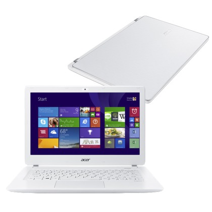 "Ntb Acer Aspire V13 (V3-371-39X4) i3-4005U, 4GB, 8+500GB, 13.3"""", bez mechaniky, Intel HD 4400, BT, CAM, Win 8.1 / Win10  - bílý"