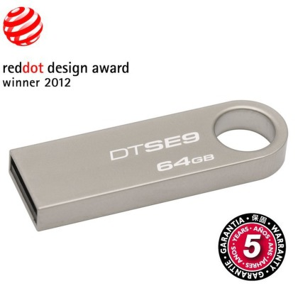 Flash USB Kingston DataTraveler SE9 64GB USB 2.0 - kovový
