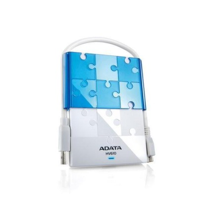 "HDD ext. 2,5"""" A-Data DashDrive Puzzle HV610 1TB USB 3.0  - bílý/modrý"