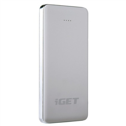 Power Bank iGET POWER B-12000 mAh - bílá