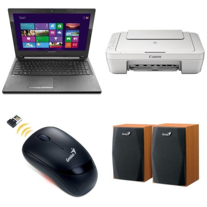 Set Ntb Lenovo IdeaPad G50-30 + Canon PIXMA MG2950 + Myš Genius Traveler 6000Z + Repro Genius SP-HF150 + Headset Connect IT CI-3
