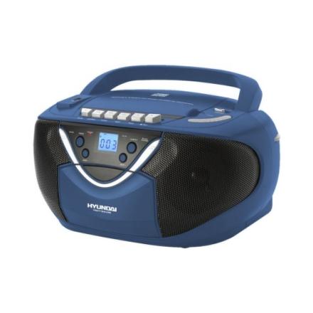 Radiomagnetofon Hyundai TRC718AU3B s CD/MP3, modrý