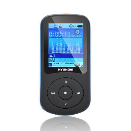 MP3 přehrávač Hyundai MPC 401 FM, 4GB, černý/modrý