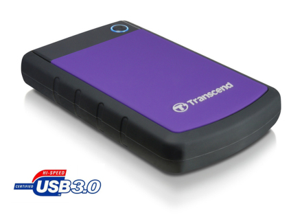 """HDD ext. 2,5"""""""" Transcend StoreJet 25H3P 1TB - černý/fialový"""