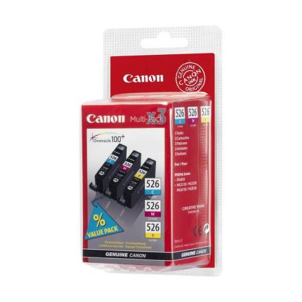 Inkoustová náplň Canon CLI-526 C/M/Y, 340 stran originální - červená/modrá/žlutá