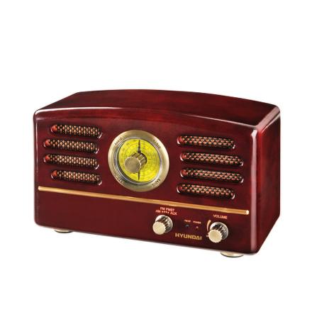 Radiopřijímač Hyundai RA 202 RETRO, třešeň