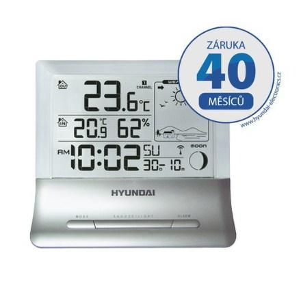 Meteostanice Hyundai WS 2266 průhledný displej, stříbrná