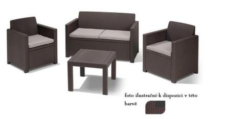 Ratanový nábytek ALABAMA hnědý