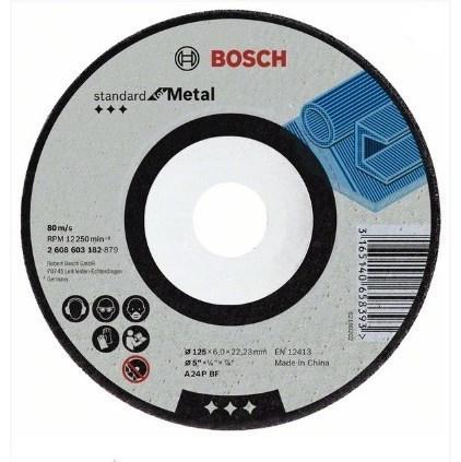 Kotouč brusný Bosch kov Standard, 115x6x22.23 mm prohnutý