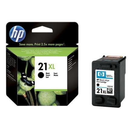 Inkoustová náplň HP No. 21XL, 475 stran originální - černá