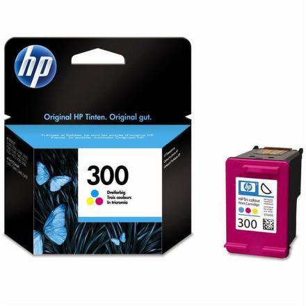 Inkoustová náplň HP No. 300, 4 ml, 165 stran originální - červená/modrá/žlutá