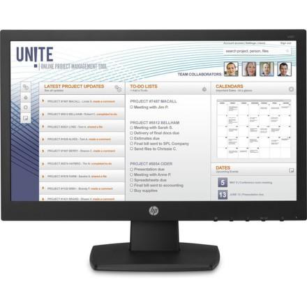 "Monitor HP V197 18.5"""",LED, TN, 5ms, 600:1, 200cd/m2, 1366 x 768,"