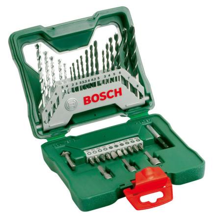 Sada vrtáků a bitů Bosch 33 dílná X-Line