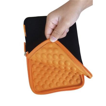 "Pouzdro na tablet GoGEN neoprenové - univerzal 8"""" s bublinkami - černé/oranžové"