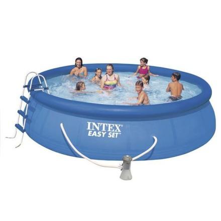 Bazén Intex Easy Set 4,57x1,07 m, kartušová filtrace 3,8 m3/h