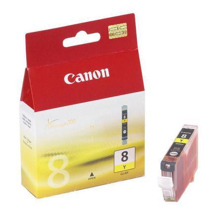 Inkoustová náplň Canon CLI-8Y, 420 stran originální - žlutá