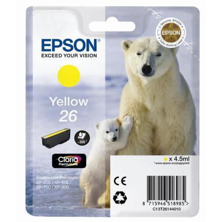 Inkoustová náplň Epson T2614, 4,5ml originální - žlutá