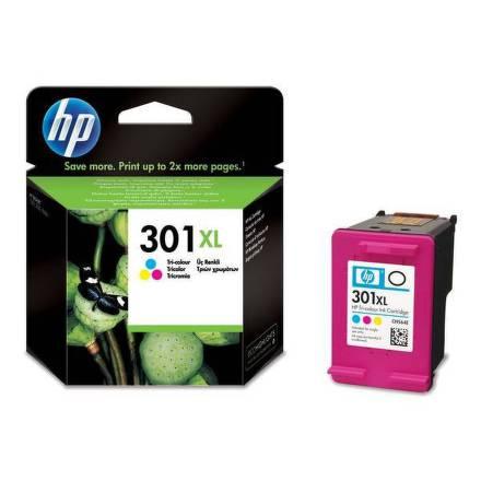 Inkoustová náplň HP No. 301XL, 330 stran originální - červená/modrá/žlutá