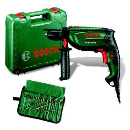 Vrtačka Bosch PSB 650 RE + 19 ks sada přísl.