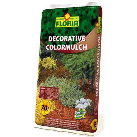 Kůra Agro FLORIA decor. ColorMulch hnědá, 70 l