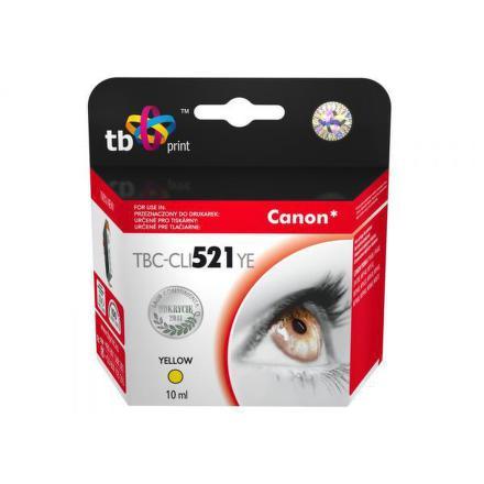 Inkoustová náplň TB Canon CLI-521Y kompatibilní - žlutá