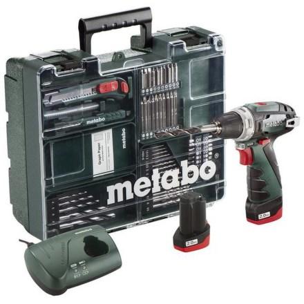 Aku vrtačka Metabo Power Maxx BS Basic MD 2x2Ah