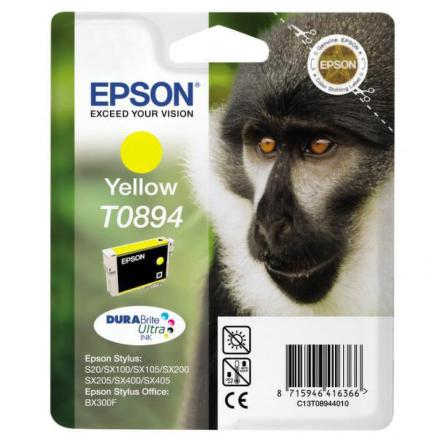Inkoustová náplň Epson T08944011, 180 stran originální - žlutá