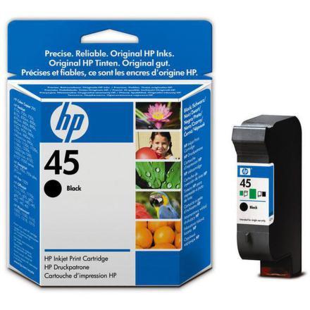 Inkoustová náplň HP No. 45, 21ml originální - černá