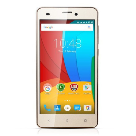 Mobilní telefon Prestigio Muze A5 Dual SIM - zlatý
