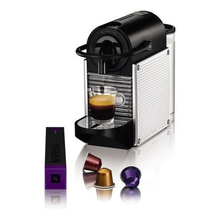Espresso DeLonghi Nespresso EN 125 M Pixie Steel dots