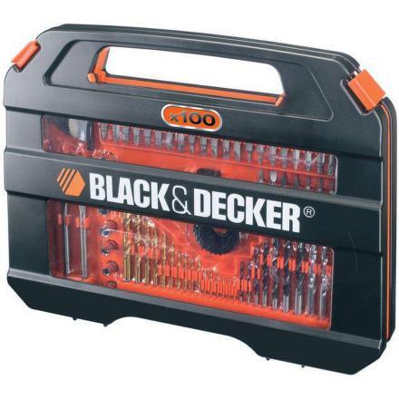 Sada vrtáků a bitů Black&Decker A7154 100 dílná