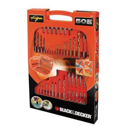 Sada vrtáků a bitů Black&Decker A7066 50 dílná