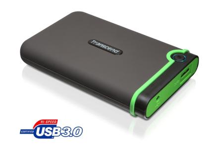 """HDD ext. 2,5"""""""" Transcend StoreJet 25M3 500GB - šedý/zelený"""