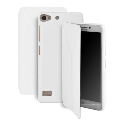 Pouzdro na mobil flipové GoGEN pro Lenovo VIBE X2 - bílé