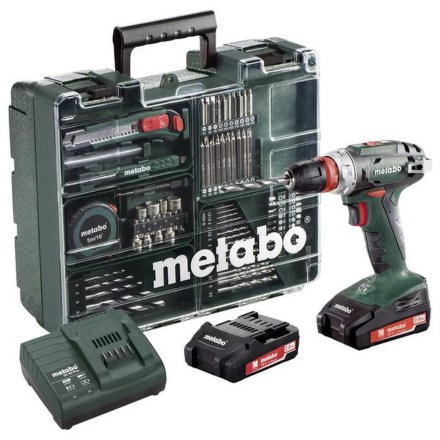 Aku vrtačka Metabo BS 18 Quick MD 2x2,0Ah