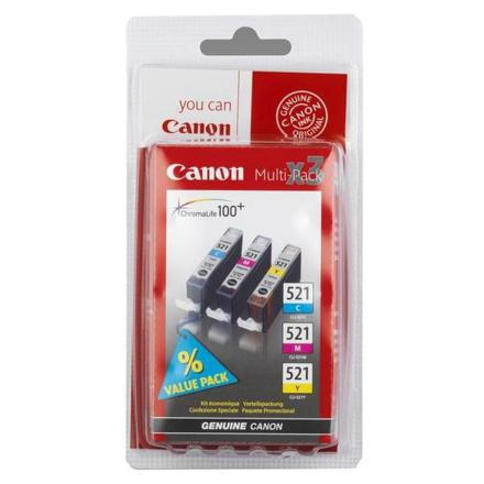 Inkoustová náplň Canon CLI-521 C/M/Y originální - modrá/žlutá/růžová