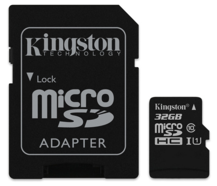 Paměťová karta Kingston MicroSDHC 32GB UHS-I U1 (45R/10W)