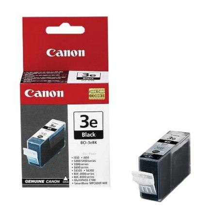 Inkoustová náplň Canon BCI-3eBk, 210 stran originální - černá