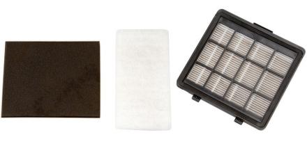 Set filtrů Gallet FH 605 do vysav. ASP605 – HEPA filtr, jemný pomocný filtr, výstupní filtr