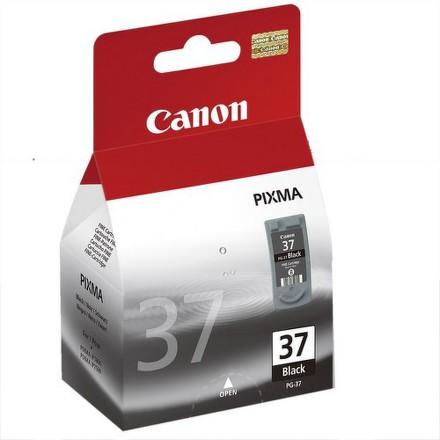 Inkoustová náplň Canon PG-37Bk, 11ml originální - černá