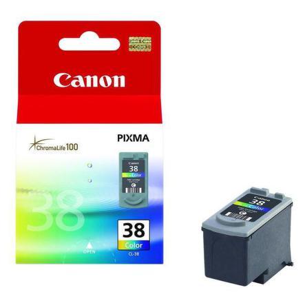 Inkoustová náplň Canon CL-38C, 207 stran originální - červená/modrá/žlutá