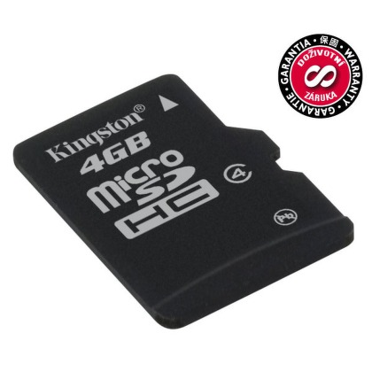 Paměťová karta Kingston MicroSDHC 4GB Class4