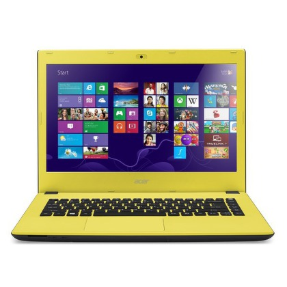 "Ntb Acer Aspire E14 (E5-473-38BD) i3-4005U, 4GB, 8+500GB, 14"""", Full HD, DVD±R/RW, Intel HD, BT, CAM, W8.1  - žlutý"