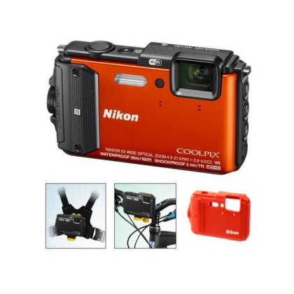 Nikon COOLPIX AW130 orange outdoor kit