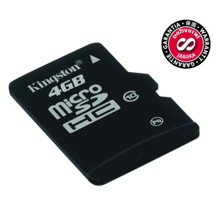 Paměťová karta Kingston MicroSDHC 4GB UHS-I U1 (30MB/s)
