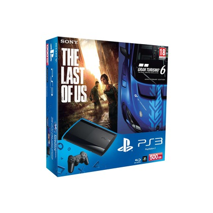 SONY CONSOLE PS3 500GB+GT 6+The Last of Us