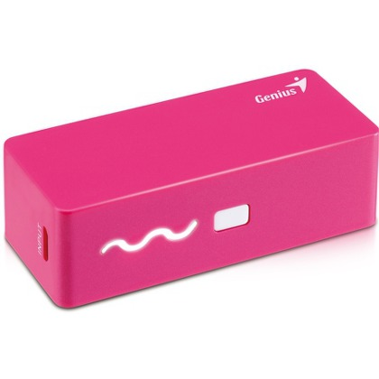 GENIUS power bank ECO-u261, 2 600 mAh pink