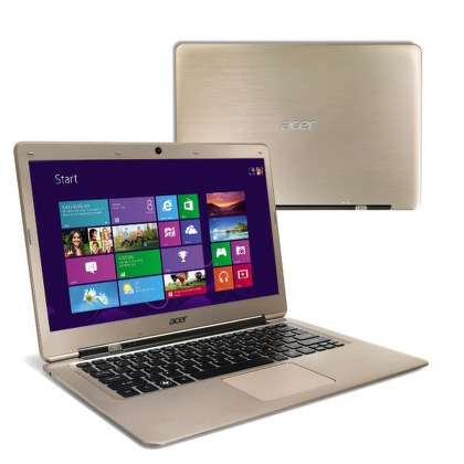 "Ntb Acer Aspire S3-391-33214G52add i3-3217U, 4GB, 20+500GB, 13,3"""", Intel HD 4000, BT, CAM, W8  - zlatý"