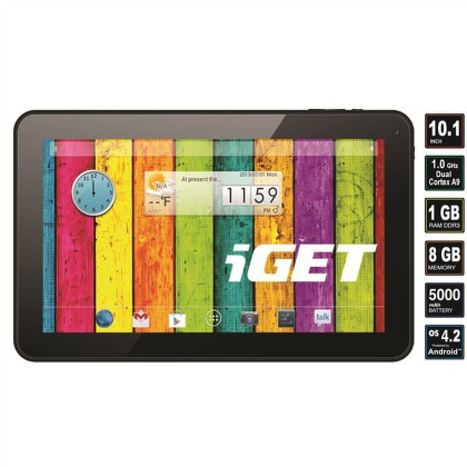 "Dotykový tablet iGET COOL N10D 10,1"""", 8 GB, WF, Android 4.2"