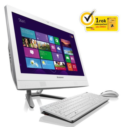 "Počítač All In One Lenovo IdeaCentre C460 21,5"""", Celeron G1820T, 2GB, 500GB, DVD±R/RW, HD, W8.1 - bílý"